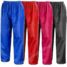 BRAND NEW WATERPROOF RAIN OVER TROUSERS CHILDRENS  BOYS OR GIRLS   3yrs to 12yrs