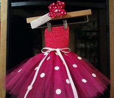 MINNIE MOUSE PINK POLKA DOT tutu dress costume birthday party halloween