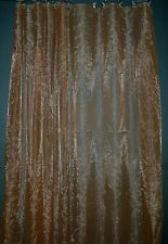 CD08 (2 Panels) Brown Plain Fine Sheer Sparkle Organza Curtains*Custom Made*Size