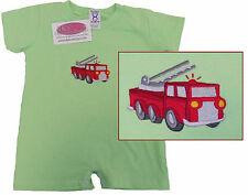 Fire Truck & Emergency Rescue Ladder Firefighter Bodysuit Romper Baby Outfit NWT