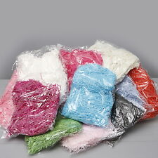 SHREDDED TISSUE PAPER 100gm BAGS HAMPER BASKET COLOURED PAPER FILLER PACKAGING