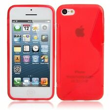 iPhone 5C TPU Case Cover Skin in RED with FREE TRACKING WORLDWIDE