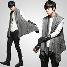 Men Unique Casual Knitwear Waistcoat Vested Cardigans Sweater-can also be Scarf