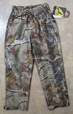 Rain Blocker Scent Shield Camo Hunting Pants Realtree AP Youth Size Large NEW