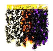 Halloween Black Garland Tinsel Party Decoration Orange Pumpkin Purple Bats Ghost
