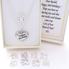 S.P Birthday Necklace,Chain,Box,OTHER FAMILY CHARMS, mum,sister,daughter,gift