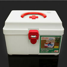 New Emergency First Aid Medicine Chest Kit Case Pill Drug Box Camping Car Supply