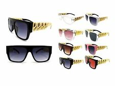 NEW CELEBRITY STYLE CHUNKY LARGE LINK CHAIN FRAME FASHION SUNGLASSES - HYSG1