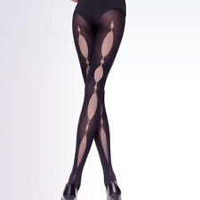 "Opaque Patterned Tights ""Mirror"" - 50 Denier Oval Pattern"