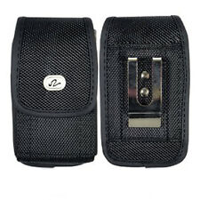 Vertical Heavy Duty Rugged Canvas Belt Clip Case Pouch for Samsung Cell Phones