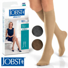 Jobst Womens Ultrasheer Knee High Stockings 20-30 mmhg Supports Diamond Pattern