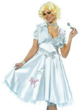 New Adult 1950's Style Light Blue Hop Diva Poodle Dress Halloween Costume