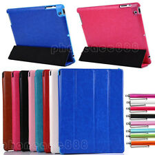 Four-Fold Slim Magnetic Leather Smart Case Stand Cover for iPad 2/3/4 Sleep/Wake
