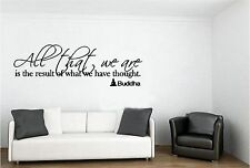 All That We Are Buddha Vinyl Wall Decal Art Saying Quote Decor