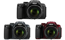 Nikon Coolpix P520 Digital Camera (Black, Dark Grey, Red)