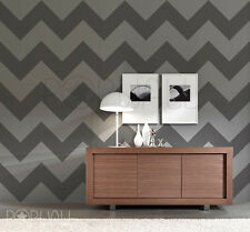 Zig Zag Wallpaper Pattern Wall Decal Chevron Sticker for modern home - LARGE