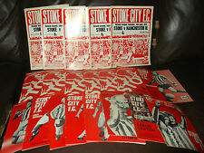 Stoke City home programmes 1972/3 - 74/5