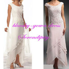 Long Formal Evening Prom Bridal Gown Lace Wedding Dresses Size 6-8-10-12-16-20++