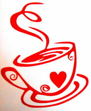 Heart Coffee Cup Tile, Wall, Window, Kitchen, Stickers / Decals
