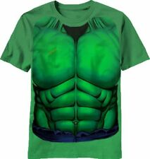 Marvel Incredible Hulk Youth Costume Tee Shirt Officially Licensed Green
