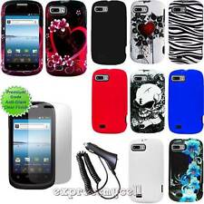 Charger CL Screen Straight Talk Tracfone ZTE Valet Hard Design Case Skin Cover