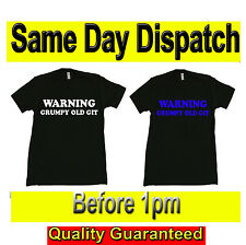 WARNING GRUMPY OLD GIT Novelty T SHIRTS Original Fruit of the Loom Full Cut