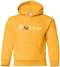 Air Europe Retro Logo Italian Airline HOODY