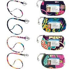 NEW Vera Bradley Clip Zip Id Case and Lanyard Great Combination and price