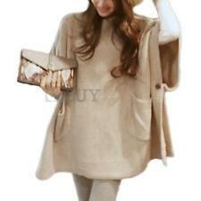 Women Sweater Jumper Pullover Poncho Cape Cloak Fall Spring Casual