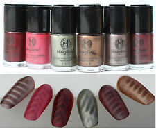 MAGNETIC NAIL POLISH 14ml Marylins X6 xmas inc with free magnet designs nails