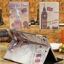 HOT 9.7'' Famous Building Leather Flip Stand Case Cover For Apple iPad 5 5th Air