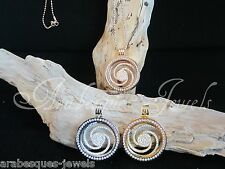 1x LARGE COIN/MONEDA ONLY FOR MI MILANO NECKLACE/KEEPER/GENUINE CRYSTAL/SWIRL