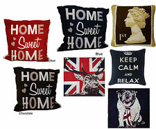 "Best of British Union Jack Cushion Covers Size 17""x17"" 43x43cm Free Uk Post"
