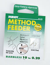 NEW MIDDY METHOD FEEDER HOOKS TO NYLON FOR COARSE FISHING