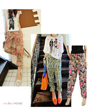 Hot Sexy Cotton Womens Spring Summer quality Print leggings & Harem Baggy Pants