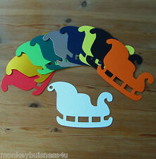Christmas Die Cuts - Sleigh #2 - Tags - Topper/Invitations - Gifts - Cardmaking