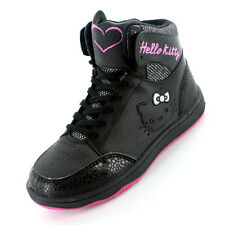 Hello Kitty Rosefinch Hi Top Girls Trainers - Black (Sizes 10,11,12,13,1,2)