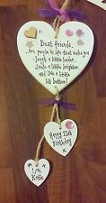 Shabby Best FRIEND Present  Personalised Heart 18th 21st 30 40th birthday Plaque