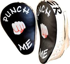 "Muay Thai Hook & Jab Focus Pads UFC MMA Kick Shield Boxing Gym Gloves ""PUNCH ME"""