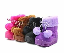 3 Color Feather Prints Toddler Kid Girls Snow Ankle Boots Shoes NEW WITHOUT BOX