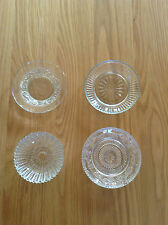 EAST OF INDIA PRESSED GLASS SMALL PLATE BOWL TRINKET JEWELLERY DISH - 4 DESIGNS