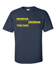 MICHIGAN BASKETBALL Final Tournament Bracket YOUR TEAM  Men's Tee Shirt 609