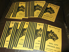 Hull City home programmes 1955/56