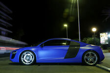 Poster of Audi Blue R8 HD Super Car Print Free Shipping