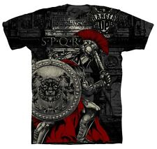 Ranger Up SPQR Roman Legion T-Shirt (Black) - mma military rtfu
