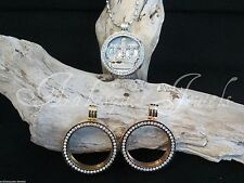 LARGE MI MILANO KEEPER/CARRIER/LOCKET  FOR COIN/MONEDA NECKLACE/PENDANT/CRYSTAL
