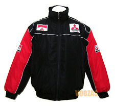 MITSUBISHI RALLY Motor Racing Embroidered Cotton Jacket Black Red