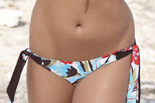 Panache SW0308 Floral Bikini Tie side Cream/Choc 8, 16 and 18 Clearance Price