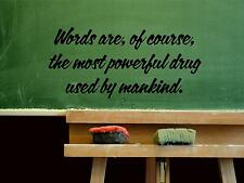 Wall Sticker WORDS ARE, OF COURSE, THE MOST POWERFUL Quote Vinyl Decal EN-42-B5
