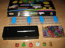 RAINBOW DIY LOOM Kit w/ Special Limited Xmas Charms or Regular Charms Band Lot